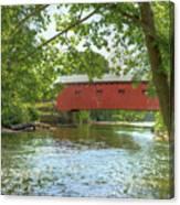Bridge At The Green Canvas Print