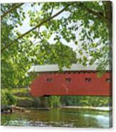 Bridge At The Green - Widescreen Canvas Print