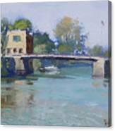 Bridge At Tonawanda Canal Canvas Print