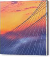 Bridge Detail At Sunrise Canvas Print