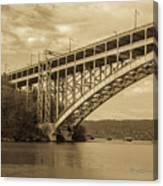 Bridge From The Train Canvas Print