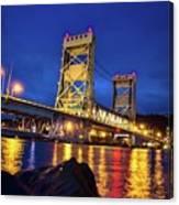 Bridge Houghton/hancock Lift Bridge -2669 Canvas Print
