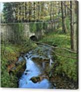 Bridge In Autunm Canvas Print