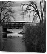 Bridge In Black And White Canvas Print