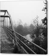 Bridge In Fog  Canvas Print