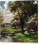 Bridge In Late Spring Canvas Print