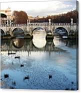 Bridge In Rome Canvas Print