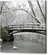 Bridge In Winter Canvas Print