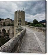Bridge Of Besalu, Girona Provence, Catalonia, Spain-2 Canvas Print