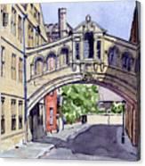 Bridge Of Sighs. Hertford College Oxford Canvas Print