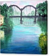 Bridge On The River Adda Canvas Print