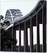 Bridge Over Delaware Chesapeake Canal Canvas Print
