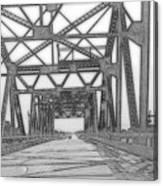 Bridge Over Mississippi Canvas Print