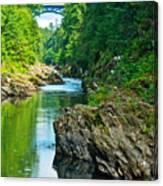 Bridge Over Quechee Gorge-vermont  Canvas Print