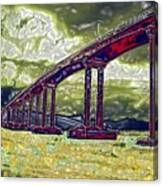 Bridge Over Stormy Waters Canvas Print