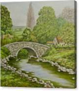 Bridge Over Stream Canvas Print