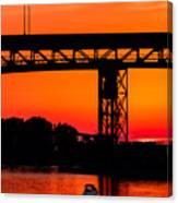 Bridge Over Sunset Canvas Print