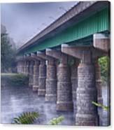 Bridge Over The Delaware River Canvas Print