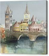 Bridge Over The Lake Canvas Print