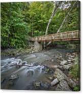 Bridge Over The Pike River Canvas Print