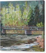 Bridge Over The Poudre Canvas Print