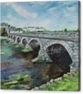 Bridge Over The River Laune, Killorglin Ireland Canvas Print