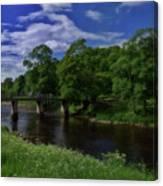 Bridge Over The River Wharf Canvas Print
