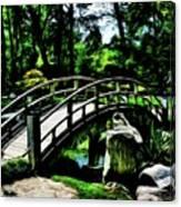 Bridge Over The Stream Canvas Print