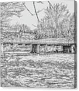 Bridge Over The Vermilion Canvas Print