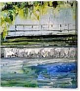 Bridge Over The Weir II Canvas Print