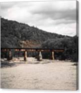 Bridge Over The Winooski Canvas Print