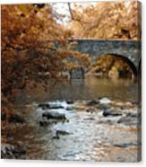 Bridge Over The Wissahickon At Valley Green Canvas Print