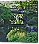 Bridge Over Tranquil Waters Canvas Print