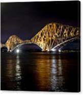 Bridge Over Water Lights. Canvas Print