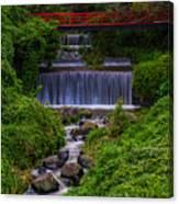 Bridge Over Waterfall Canvas Print
