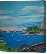 Bridge Scene Canvas Print