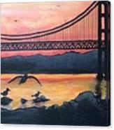 Bridge Silhouette  Canvas Print