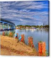 Bridge To Cobb Island Canvas Print