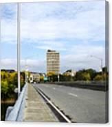 Bridge To The City Binghamton New York Canvas Print