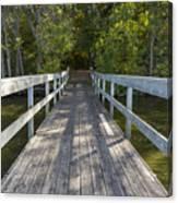 Bridge To Woods 1 Canvas Print
