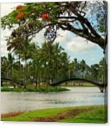 Bridges At Wailoa Canvas Print