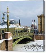 Bridges Of Petersburg Canvas Print