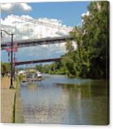 Bridges Spanning The Rondout Canvas Print