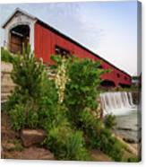 Bridgeton Covered Bridge - Indiana Square Art Canvas Print