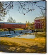 Bridgeton Mill Covered Bridge Canvas Print