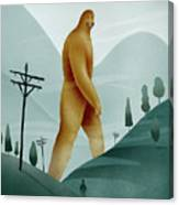 Brief Encounter With The Tall Man Canvas Print