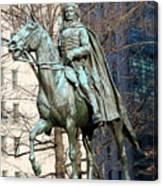 Brigadier General Casimir Pulaski Saved George Washington's Life Canvas Print