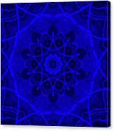 Brigadoon No. 1 Neon Blue Canvas Print