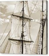 Brigantine Tallship Fritha Sails And Rigging Canvas Print
