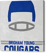 Brigham Young Cougars Vintage Football Art Canvas Print